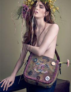 Alexandra Dmitrieva by Alexey Kolpakov for Vogue Russia April 2015