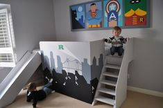 Bedroom: Perfect Bedroom Ideas for Small Place. Great Bedroom Ideas with Superhero Theme