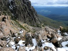 Jacob's Ladder in Tasmania - Aptly named after the ladder to heaven described in the Book of Genesis, this steep and narrow zigzag road ascends to heaven, or at least 5148 feet/1570 meters in the air.