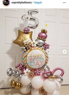 15 Balloon Bouquet for a beautiful young lady💐🎈💐 . Balloon Columns, Balloon Arch, Balloon Garland, Balloon Shop, Balloon Gift, Balloon Arrangements, Balloon Centerpieces, Shower Centerpieces, Birthday Balloon Decorations