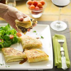 Crêpes de setas Pancakes, Waffles, No Cook Appetizers, Crepe Cake, Mille Crepe, Fajitas, Light Recipes, Salad Recipes, Easy Meals