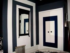 Think outside and inside the box and create great paint pattern using Behr paint.
