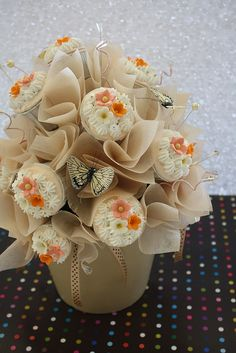 Love it! gorgeous fondant flowers!   my very first cupcakes bouquet by RATUkek, via Flickr