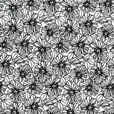 Michael Miller Fabrics - DC6212 camillia black and white graphyx mark hordyszynski geometrics flowers florals