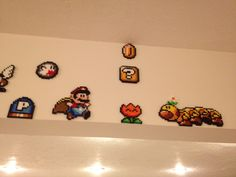 Mario Flower Perler Super mario world p block