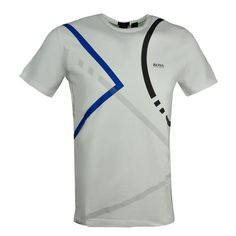 Hugo Boss Regular Fit Tee 5 T-Shirt White 50389058 100 #HUGOBOSS #50389058100 Tee Shirts, Tees, Hugo Boss, Athletic Tank Tops, Men Sweater, Polo, Fitness, Sports, Cotton
