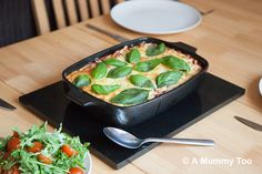 Recipe: Pasta Recipes / Delicious and filling smokey halloumi pasta bake (recipe) - tableFEAST Baked Pasta Recipes, Veggie Recipes, Baking Recipes, Great Recipes, Veggie Meals, Veggie Food, Delicious Recipes, Vegetarian Dinners, Vegetarian Recipes