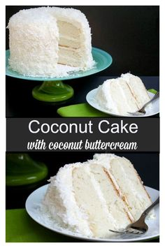 A tender white cake made from scratch with decadent coconut buttercream. Cake Coconut Cake with Awesome Coconut Butter-Cream Frosting Brownie Desserts, Oreo Dessert, Mini Desserts, Kokos Desserts, Coconut Desserts, Coconut Recipes, Just Desserts, Coconut Cakes, Homemade Coconut Cake Recipe