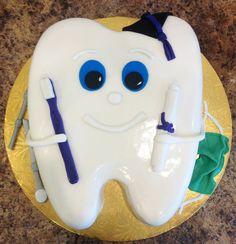 Dentist Graduation Cake - Tooth Shape www.realbuttercream.com