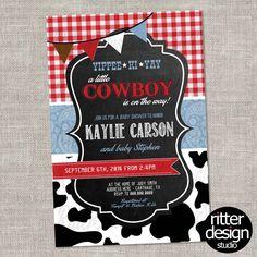 Cowboy Country Western Baby Shower | RitterDesignStudio