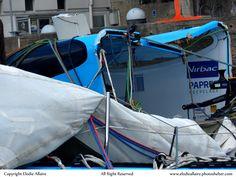 Virbac Paprec 70 de retour à Lorient après son chavirage par E Allaire - www.elodieallaire.photoshelter.com #Capsize #Lorient #Sailing | www.scanvoile.com
