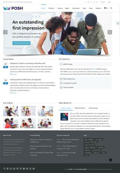 Posh WordPress Theme - Responsive Multi-Purpose Theme