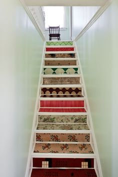 maybe I could do something like this to the stairs until I can get them replaced... maybe just one pattern though.
