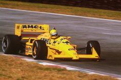 Senna, a los mandos del Lotus-Camel en 1987