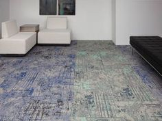 Cartography, nondirectional carpet tile abstract pattern, distressed look | Tandus