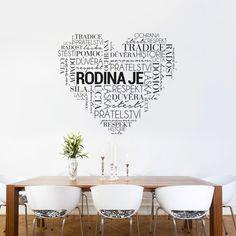 Dekorativní samolepka na zeď Rodinné srdce My New Room, Stencil, Architecture Design, Diy And Crafts, Mandala, House, Home Decor, Architecture Layout, Decoration Home