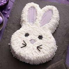 Fluffy Bunny Cake - What makes this Peter Cottontail cake look so cottony? It's tip 233, which has lots of tiny openings to make pull-out fur so easy!