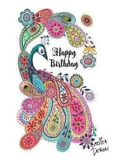 Happy Birthday in paisley ~