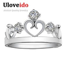 Find More Rings Information about Uloveido One Piece Crown Rings for Women Silver CZ Diamond Wedding Titanium Ring Jewellery Casamento Bijoux Bagues Femme J412,High Quality jewellery drawer,China jewellery shops engagement rings Suppliers, Cheap jewellery organizer from Ulovestore Fashion Jewelry on Aliexpress.com