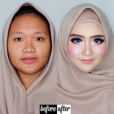 Vizzily Vizzya ( OPEN PRIVATE CLASS JULY Transformation Before – After Makeup result from my Private Makeup Course for Miss Sussy from Vicky's Make Up.lampung lashes / Open class November – December for info whatsapp 081210071717 . Makeup Inspo, Makeup Inspiration, Makeup Tips, Beauty Makeup, Eye Makeup, Hair Makeup, Contour Makeup, Contouring And Highlighting, Wedding Hijab
