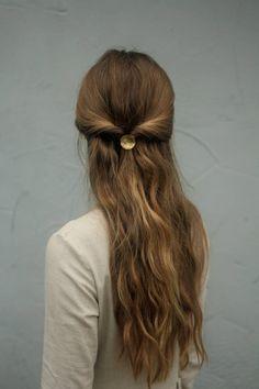 Copper Hair, Silver Hair, Metal Hair, Copper Cuff, Modern Hairstyles, Trending Hairstyles, Casual Hairstyles For Long Hair, Beautiful Hairstyles, Simple Prom Hairstyles
