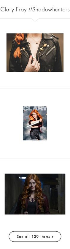 """""""Clary Fray //Shadowhunters"""" by karanova ❤ liked on Polyvore featuring CityOfBones, MortalInstruments, claryfray, shadowhunters, clace, jewelry, brooches, backgrounds, people and photos"""