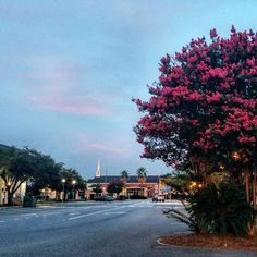 Downtown Bay Minette at dawn. Bay Minette, AL