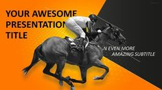 30 sports mega powerpoint template pinterest sports horse racing powerpoint template toneelgroepblik Images
