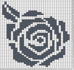 Tricksy Knitter Charts: Rose by skillzyhillzy