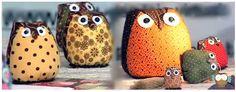 Vamos aprender com fazer uma corujinha de feltroe tecidos para você decorar a casa, presentear amigos e parentes e ganhar dinheiro. Aprenda fazer corujinh