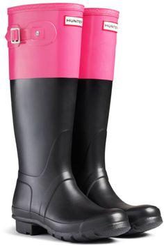 6eb46a9908 Women s Pink Original Colorblock Rain Boots