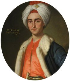 Portrait in the 'Turkish' style of William Ponsonby Earl of Bessborough, – attributed to Jeremiah Davison (Scottish Turkish Art, Turkish Style, Oriental, School Painting, Academic Art, Art Uk, Fabric Wallpaper, Art Of Living, Your Paintings