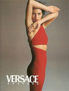 kate moss by richard avedon for versace fall 1996.
