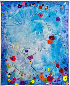 "Summer 1946 80.75x57.75"" mixed media on canvas, 2010"