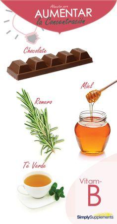 Alimentos y vitaminas para mejorar la #concentración y potenciar la #memoria