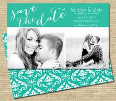 Save the Date Engagement Announcement  by PinkSangriaDesigns, $12.00