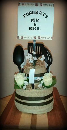 Towel Cake - great gift for newlyweds or housewarming. Order today!