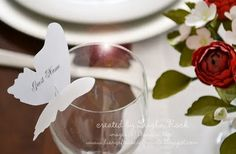 Butterfly place card holders...for weddings or whatever!  Classy!
