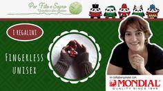 Speciale Natale - Fingerless Unisex #fingerless #video tutorial #per filo e segno #crochet easy fingerless #uncinetto #youtube