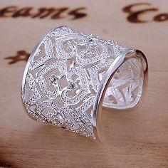 GyűrűkÁllítható Napi Ékszerek Ezüst Női Vallomás gyűrűk 1db,Állítható Ezüst 767417 2016 – €2.78