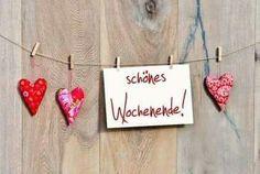 Guten morgen! Wünsche euch allen ein schönes und erholsames bzw. erlebnisreiches Wochenende!  Nutzt das schöne Wetter und lasst es euch gut gehen!  Liebe  grüße Dina