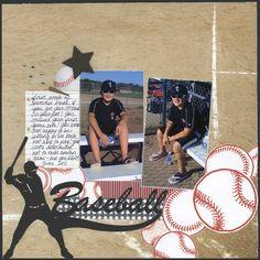 Scrappin' Sports  More Baseball layout by Carolyn Lontin