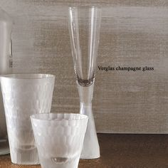 The Verglas #champagne #wine #glass is made from real #platinum luster  Product care:Hand wash only. Dimensions:  18