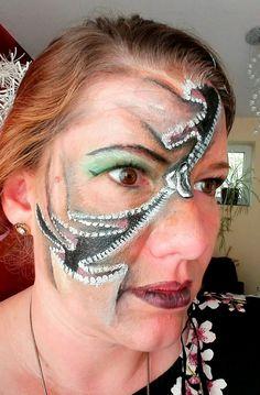 Facepainting ZIP for Halloween by Sabrina Hoffmann Face Art, Carnival, Halloween Face Makeup, Ear, Fashion, Moda, Carnivals, Fasion, Carnival Holiday