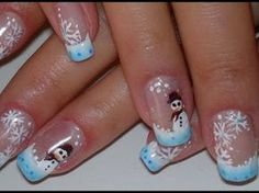 63 ideas nails french christmas art tutorials for 2019 Cute Christmas Nails, Xmas Nails, French Christmas, Christmas Art, Christmas Pictures, Christmas Wreaths, Holiday Nail Art, Christmas Nail Art Designs, Snowman Nails