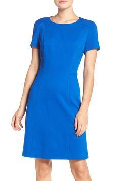 Seamed Ponte A-Line Dress
