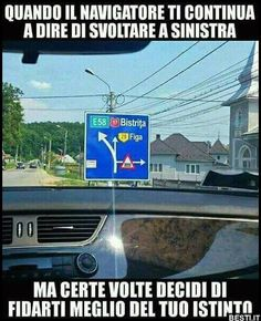 Quando il navigatore ti contiua a dire Funny Images, Funny Pictures, Italian Memes, Serious Quotes, Funny Moments, Funny Things, Free Time, Bellisima, Marvel Dc