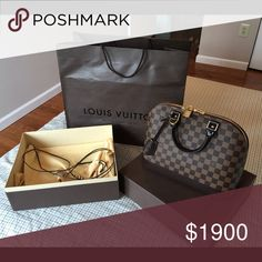 LV bag 100% authentic. Full box and receipt, used only one time. Louis Vuitton Bags Satchels