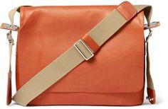 Brooks England Paddington Canvas-Trimmed Leather Messenger Bag