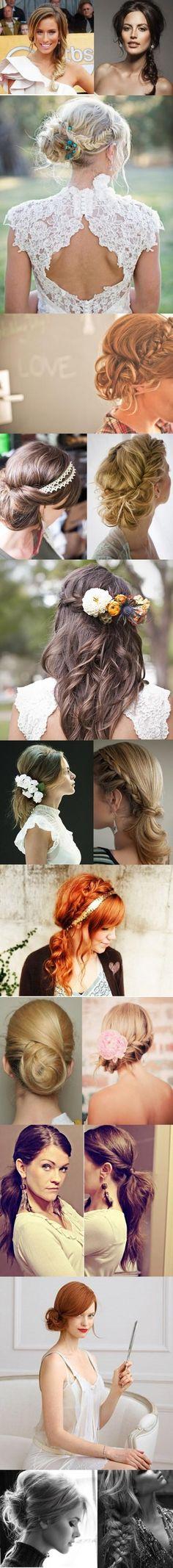 Wedding day hair - Ιδέες για νυφικά χτενίσματα... Δείτε και εδώ:www.olagiatogamo.gr/index.php?option=com_content=article=105=9=106
